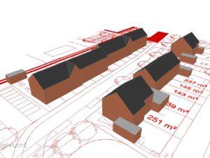 Verkaveling woningbouwproject
